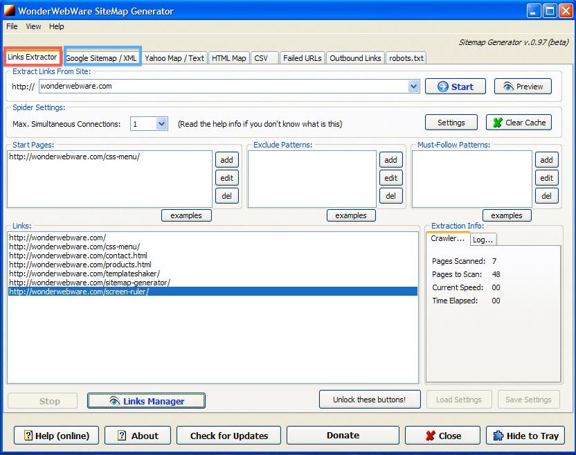 Crear sitemap - sitemap generator